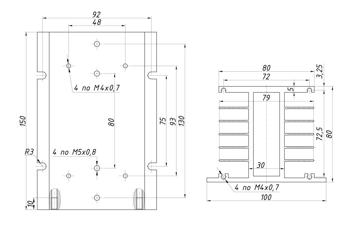 чертеж радиатора KIPPRIBOR  РТР036