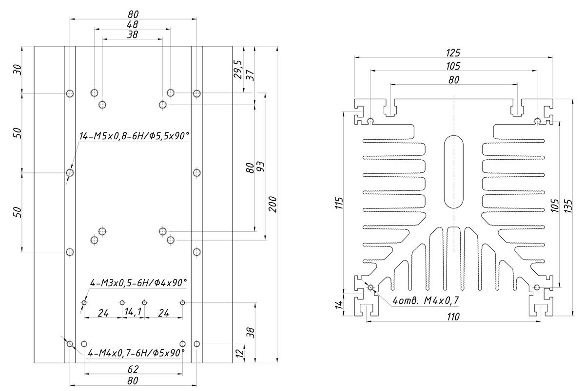 чертеж радиатора KIPPRIBOR РТР039