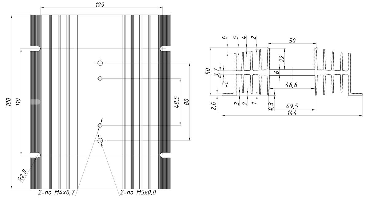 чертеж радиатора KIPPRIBOR РТР063